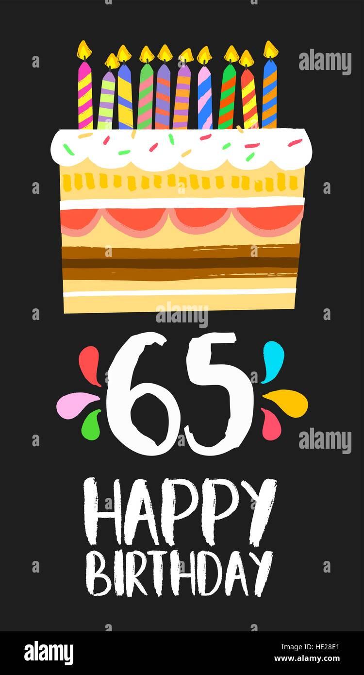 Auguri Buon Compleanno 65 Anni.Buon Compleanno Numero 65 Biglietto Di Auguri Per Sessanta