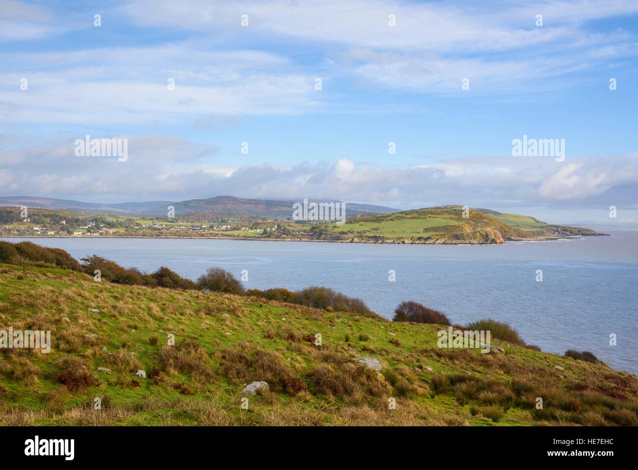 Firth irregolare dal punto Almorness, Solway Firth, Dumfries & Galloway, Scozia Immagini Stock