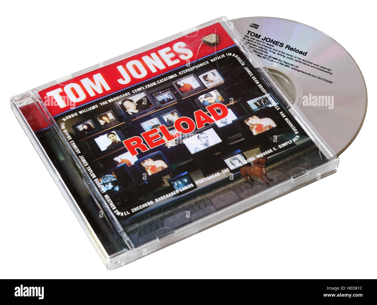 Tom Jones ricaricare CD Immagini Stock