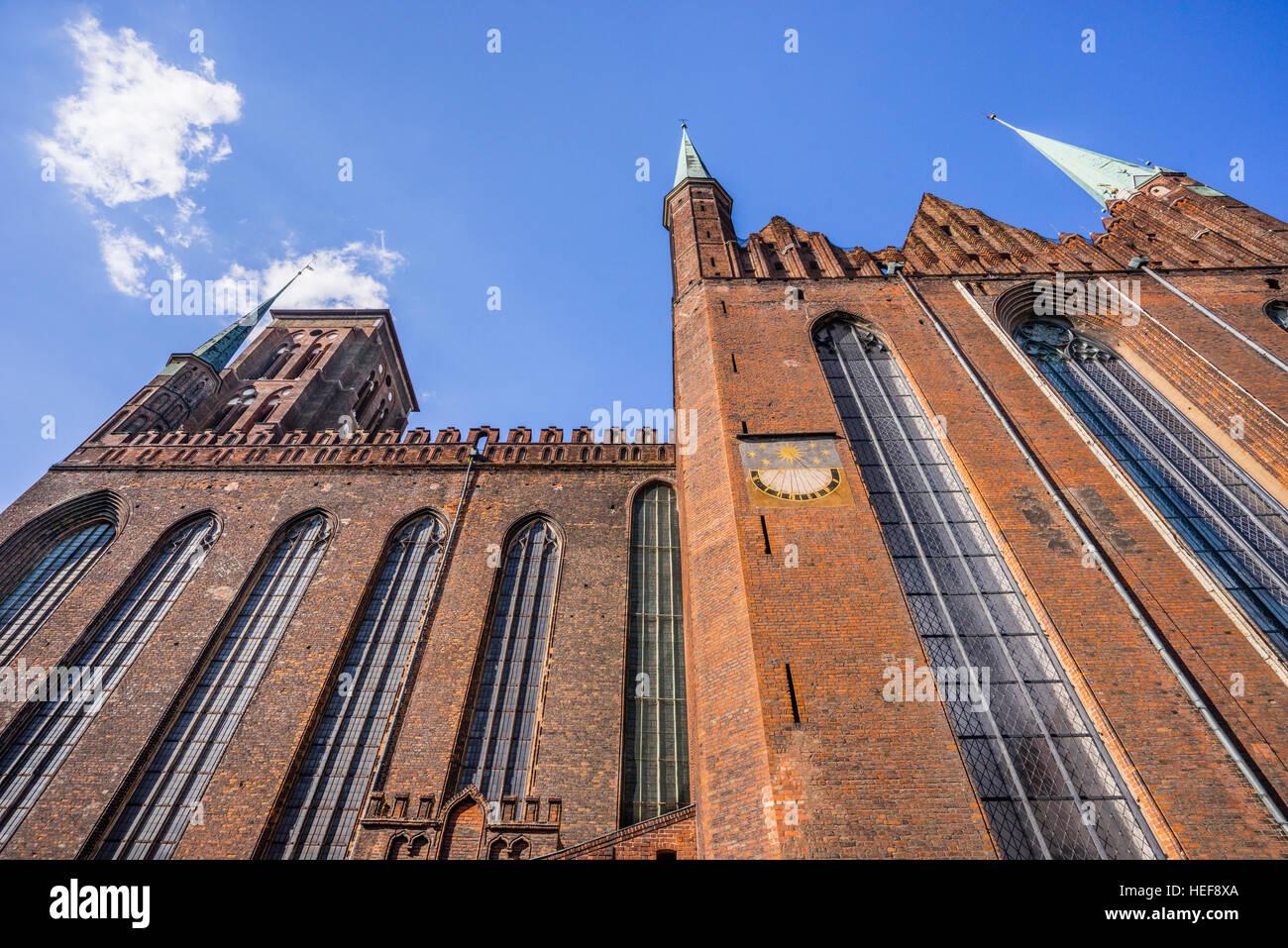Polonia, Pomerania, Gdansk (Danzica), Basilica dell Assunzione della Beata Vergine Maria (St. Chiesa di Maria), Immagini Stock