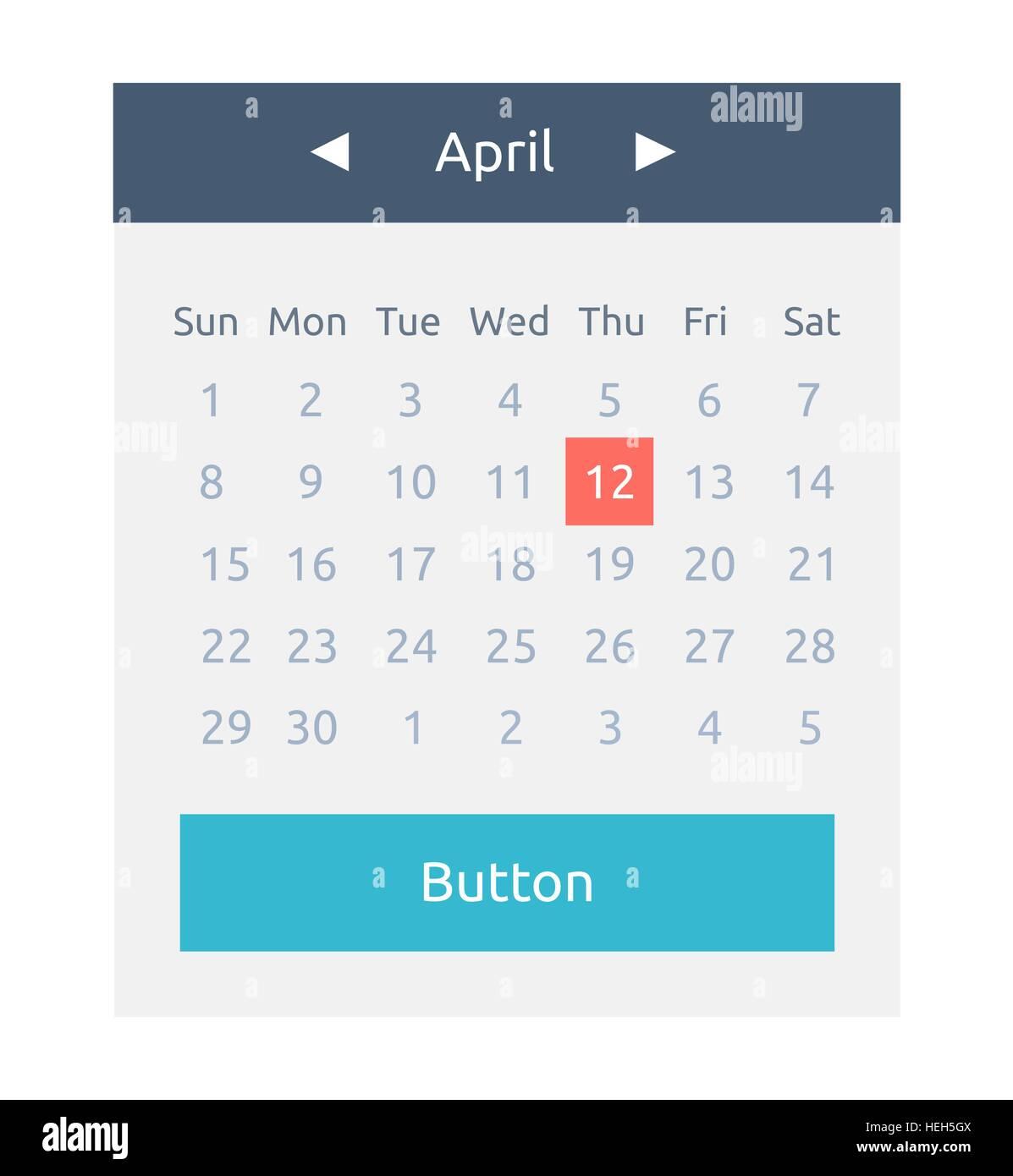 Calendario Per Sito Web.Elemento Del Sito Web Pulsante Calendario Icona Calendario