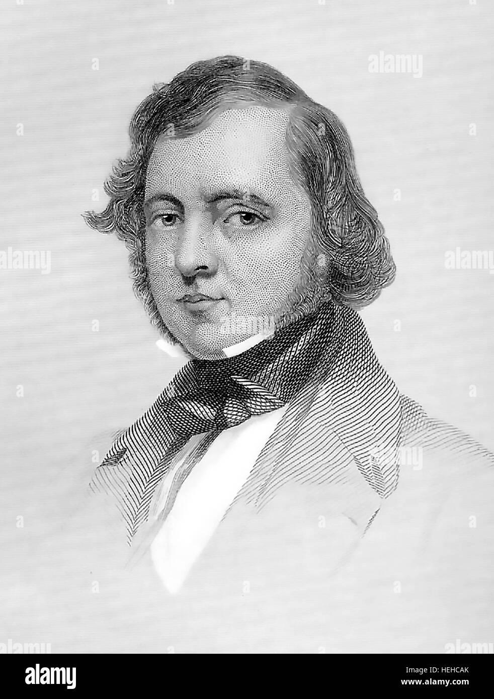 SAMUEL LOVER (1797-1868) autore irlandese e compositore su 1858 Immagini Stock