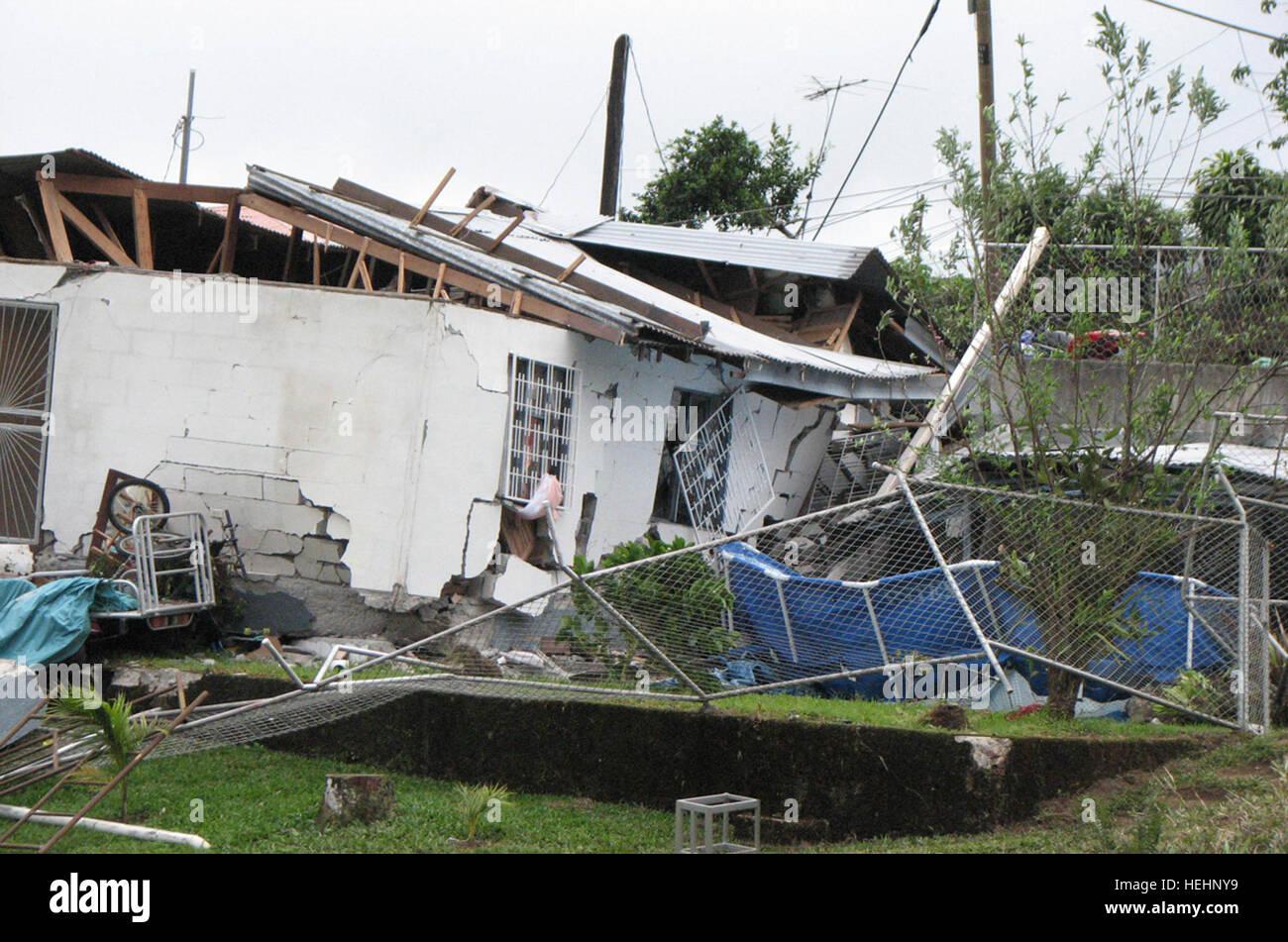 China, COSTA RICA--Costa Rican di emergenza nazionale secondo le stime della Commissione più di 2.300 residenti Immagini Stock
