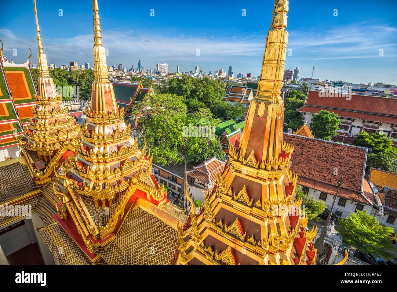 Wat Ratchanatdaram a Bangkok, in Thailandia. Immagini Stock