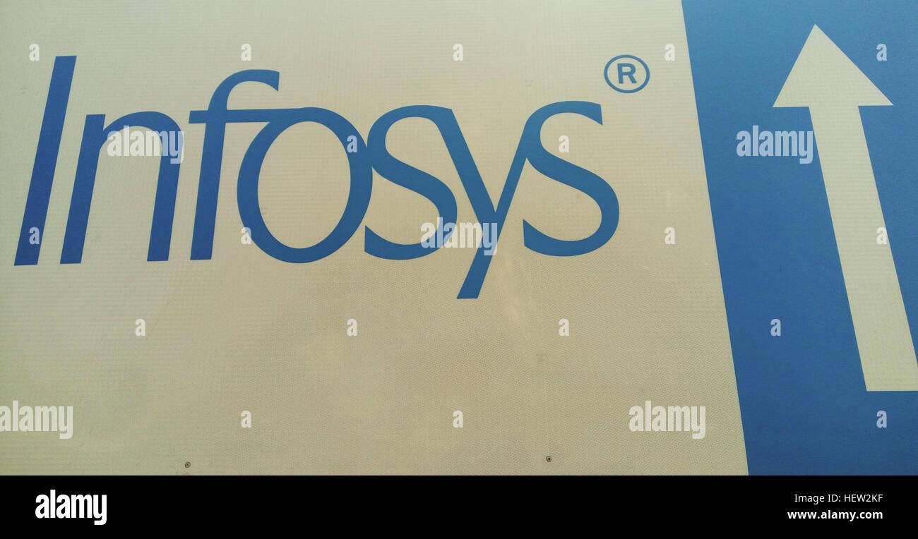 Un logo design di INFOSYS PRIVATE LIMITED. Immagini Stock