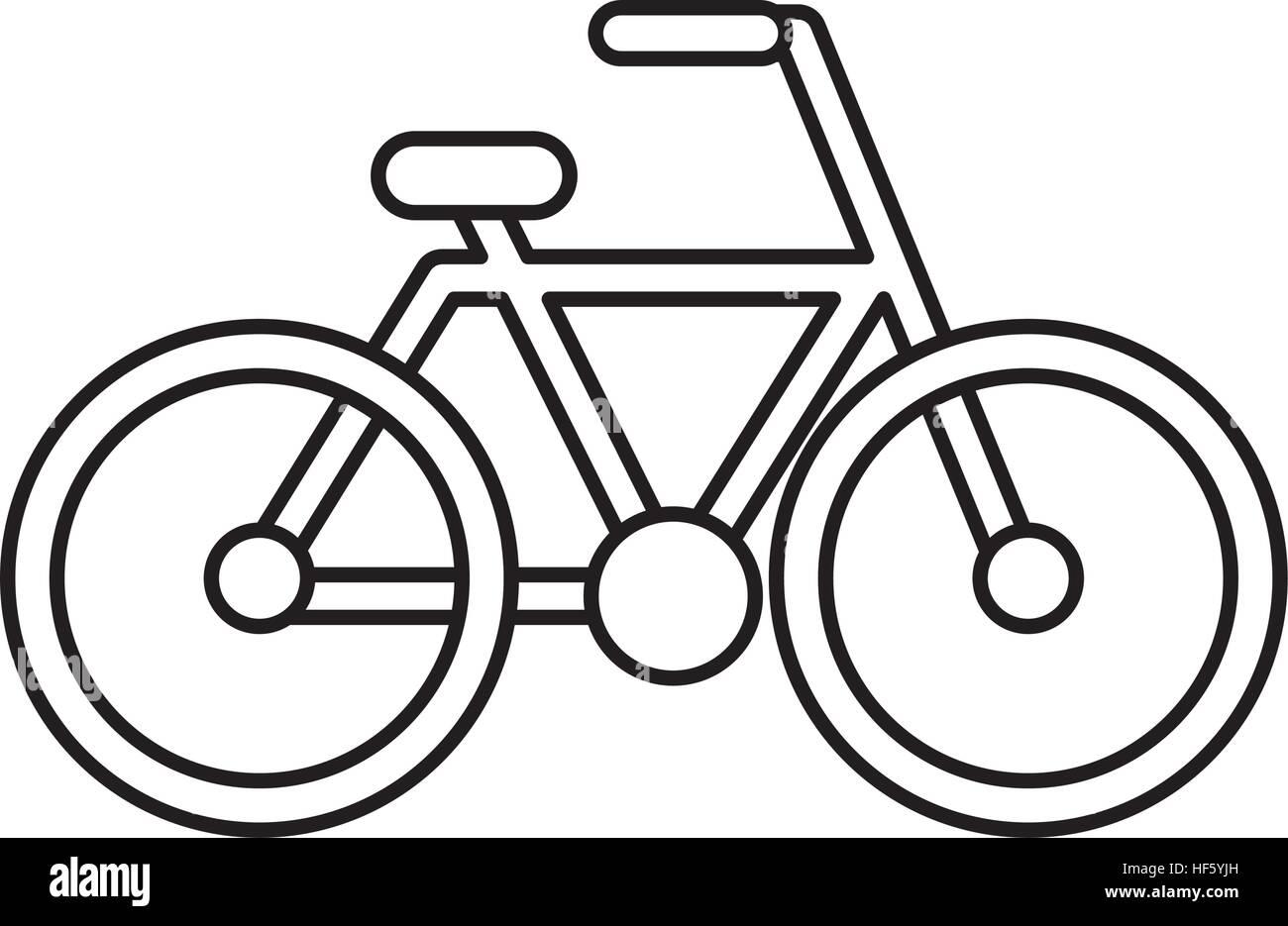 Disegno Di Bicicletta Icona Isolato Illustrazione Vettoriale Design