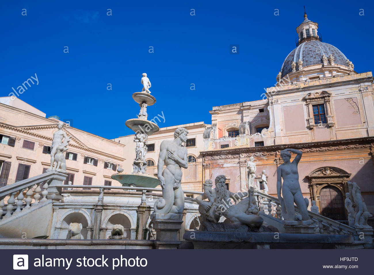 Piazza Pretoria, Palermo, Sicilia, Italia, Europa Immagini Stock