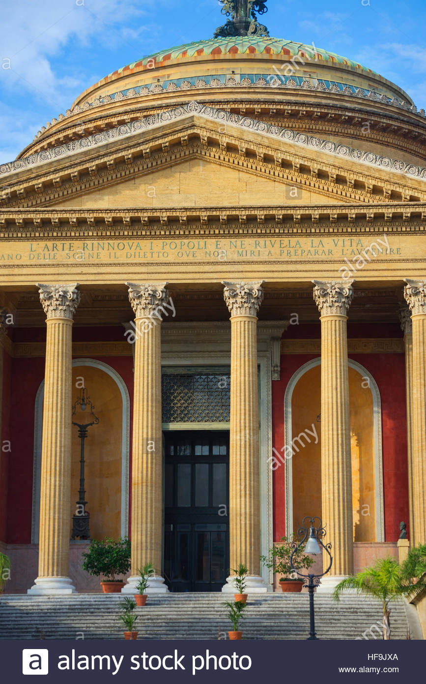Teatro Massimo, Palermo, Sicilia, Italia, Europa Immagini Stock