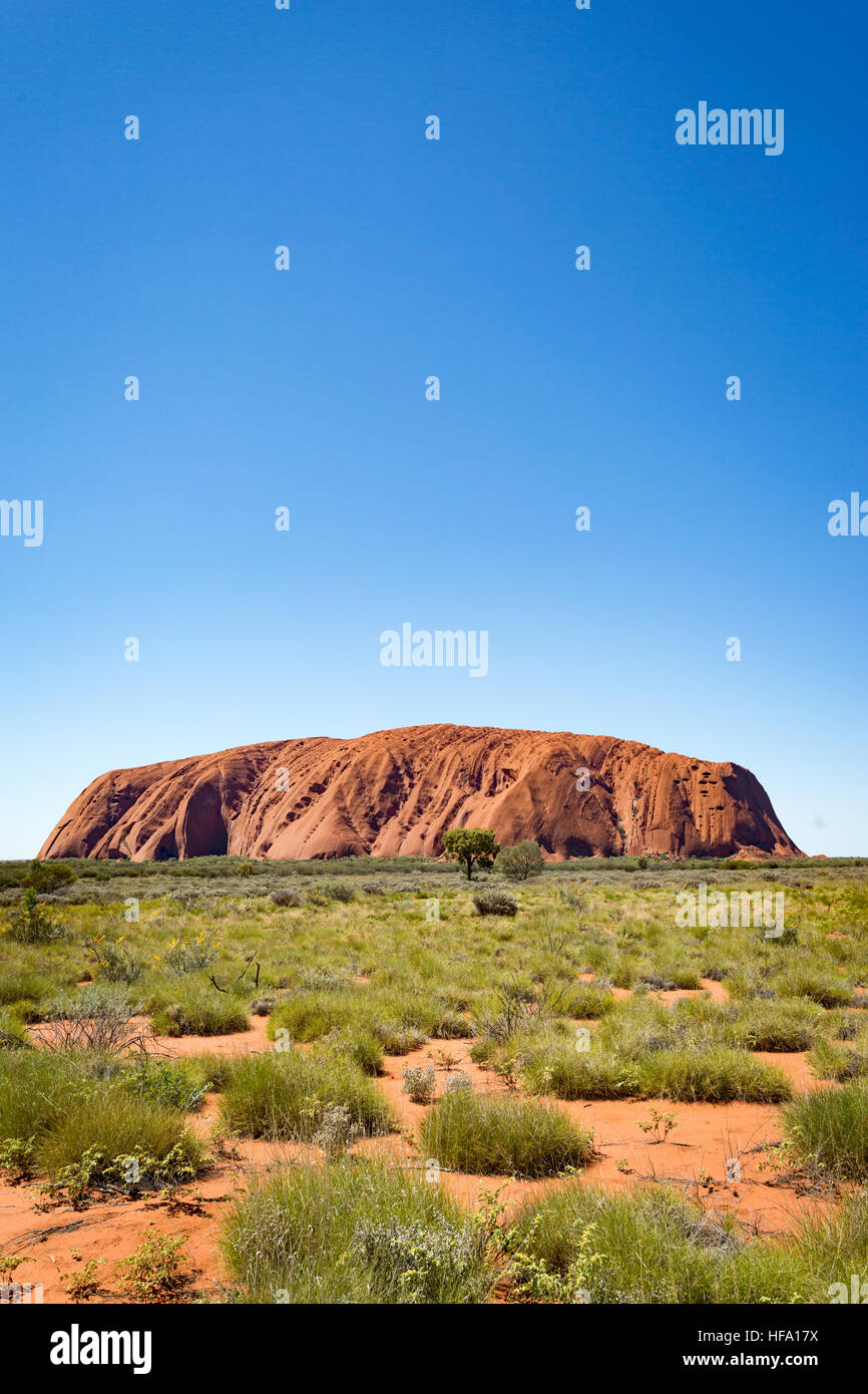 Uluru, Red Centre, Territorio del Nord, l'Australia. Foto Stock