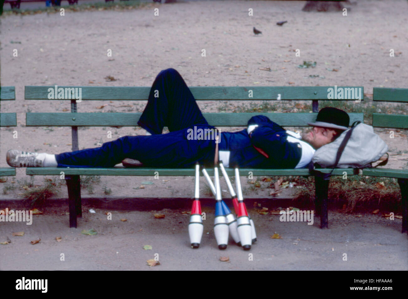 Central Park Juggler New York City Foto Stock