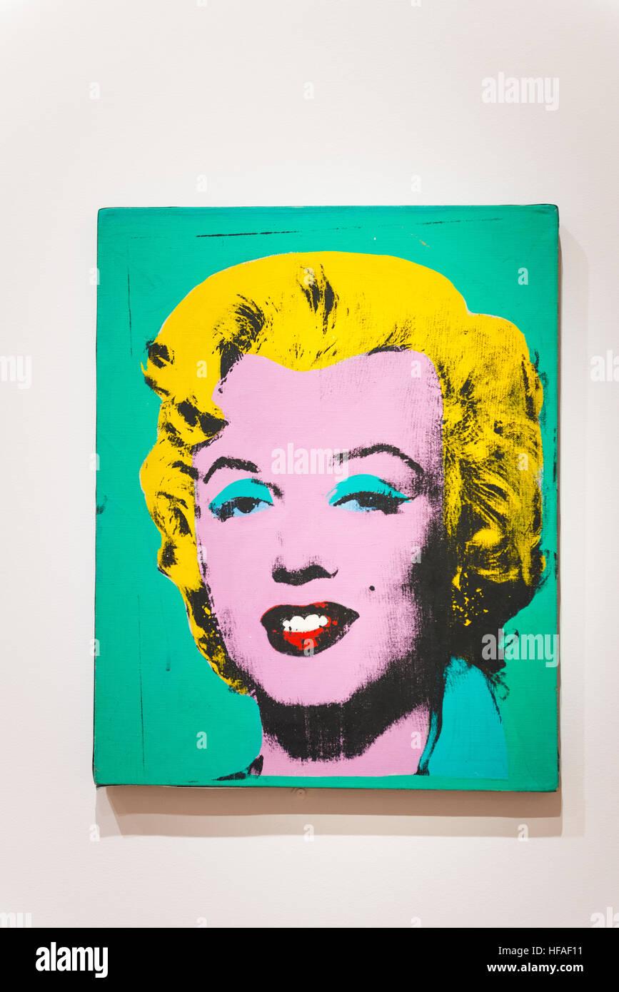 Stati Uniti capitale Washington DC e Distretto di Columbia Galleria Nazionale dell'arte di Andy Warhol Marilyn Immagini Stock