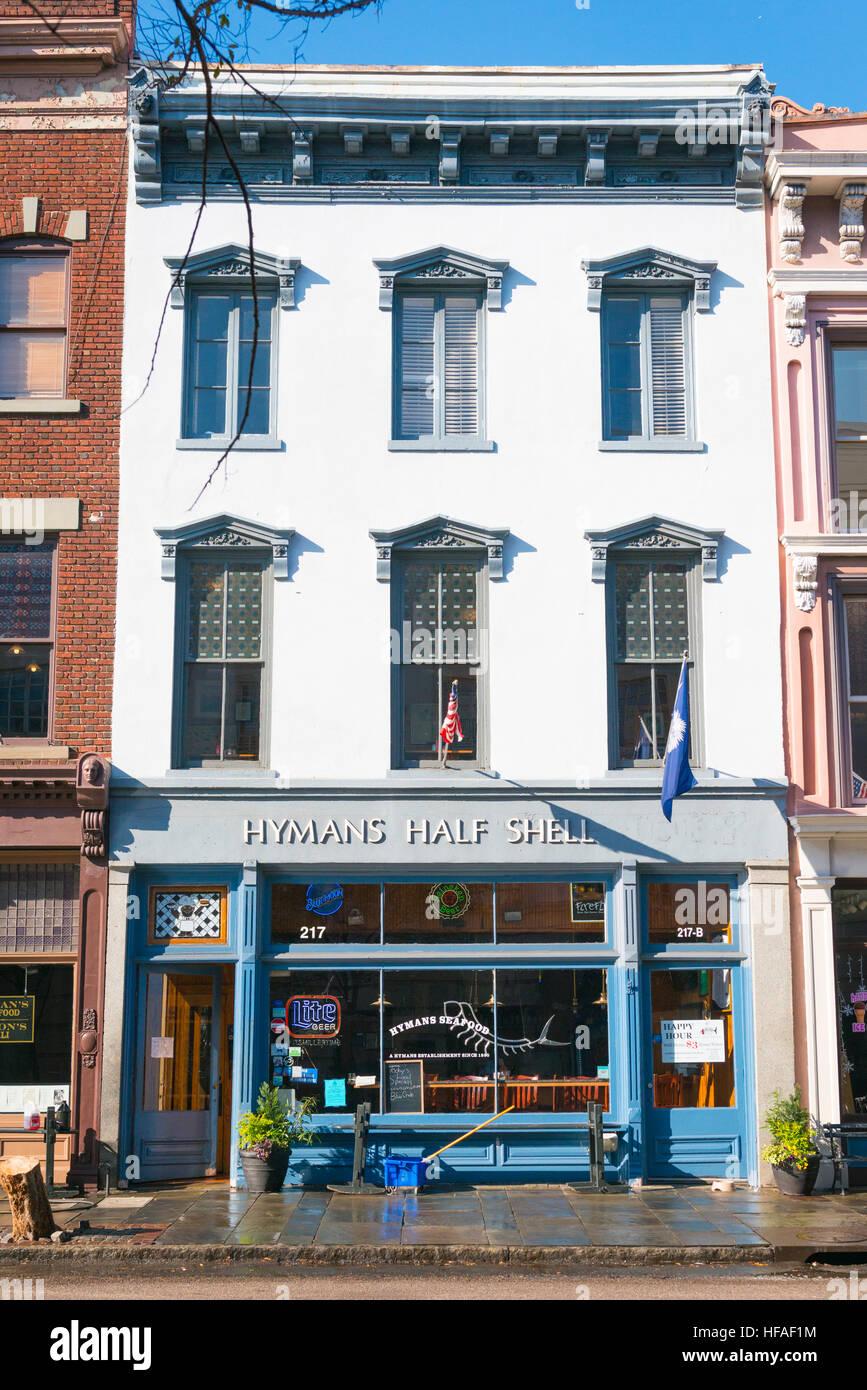 Stati Uniti d'America Sud Carolina Charleston Hymans semiguscio est 1890 specialità pesce pesce ristorante Immagini Stock