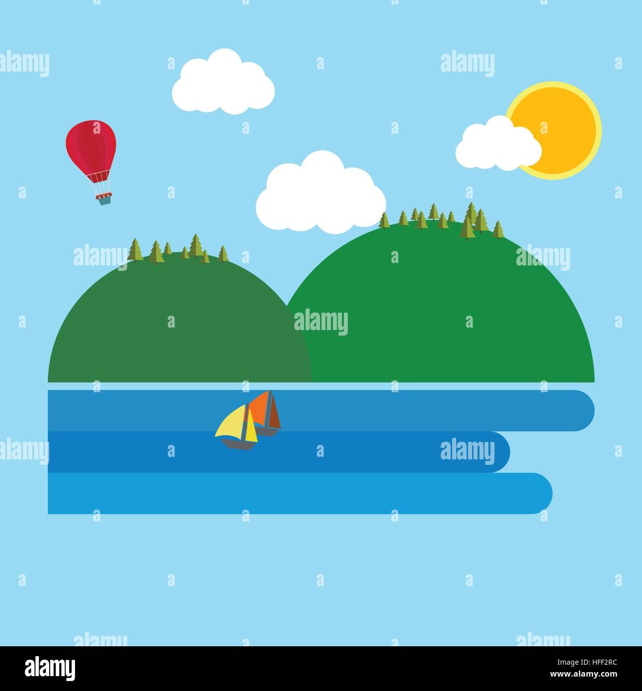 Materiale isola design illustrazione vettoriale per poster e per la grafica info Immagini Stock