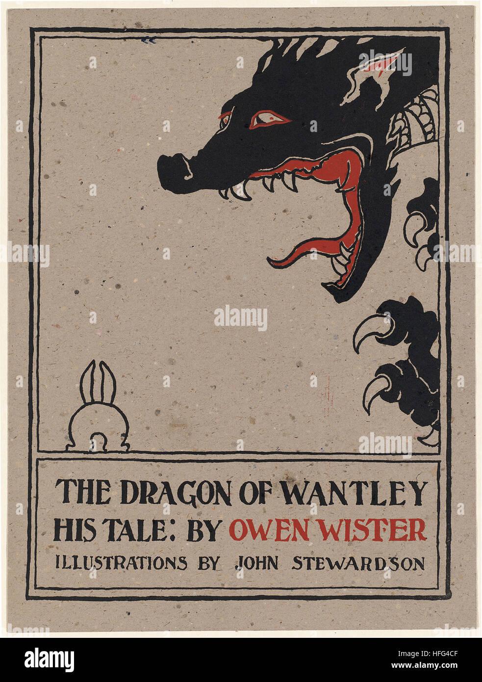 Il drago di Wantley, il suo racconto di Owen Wister Immagini Stock