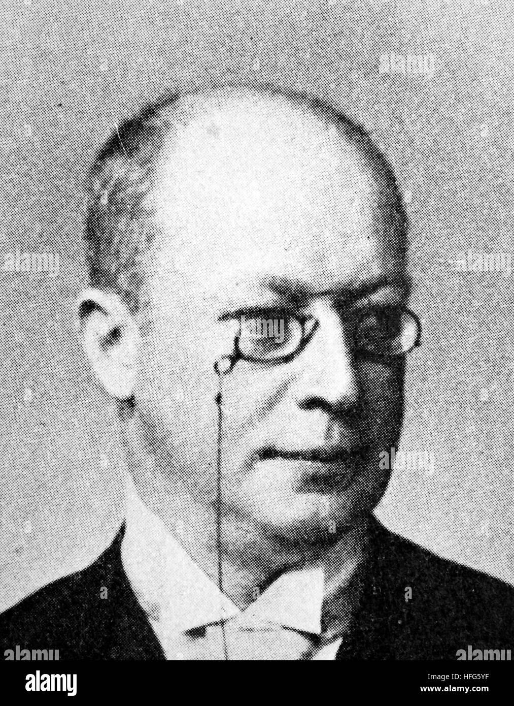 Adolf Klein, 1847 - 1931, era un attore austriaco e direttore del teatro, riproduzione foto dall'anno 1895, Immagini Stock