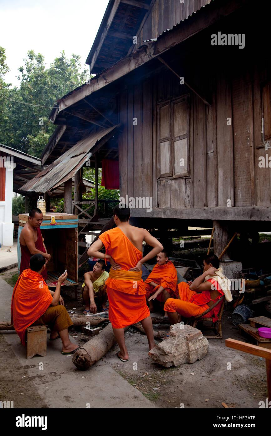 Monaci asiatici Immagini Stock