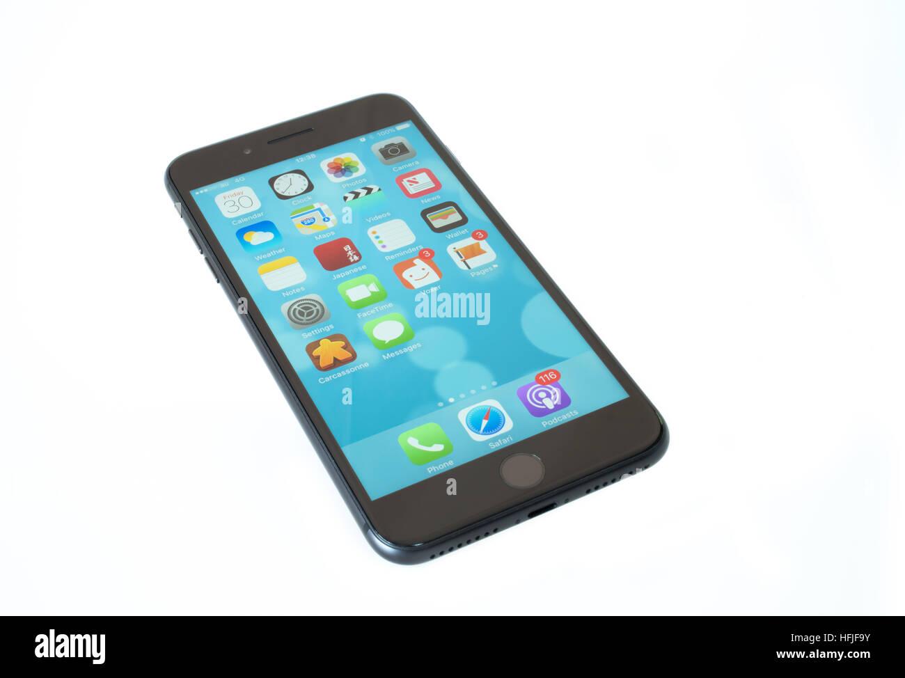 IPhone 7 più telefono cellulare 2016 senza il jack per le cuffie Immagini Stock