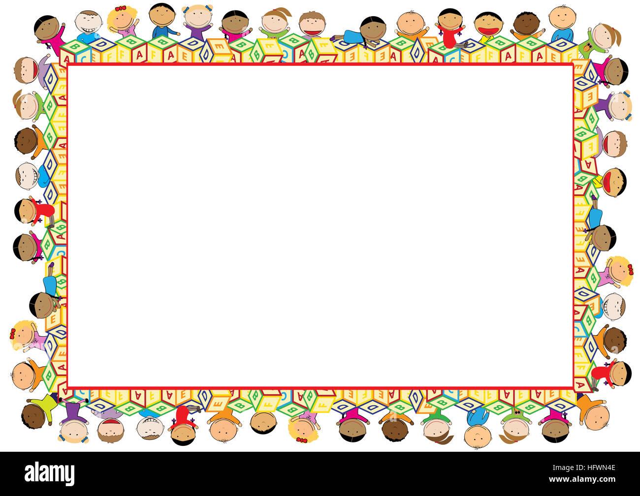 Cornici Colorate Per Foto cornice colorata per bambini foto stock - alamy