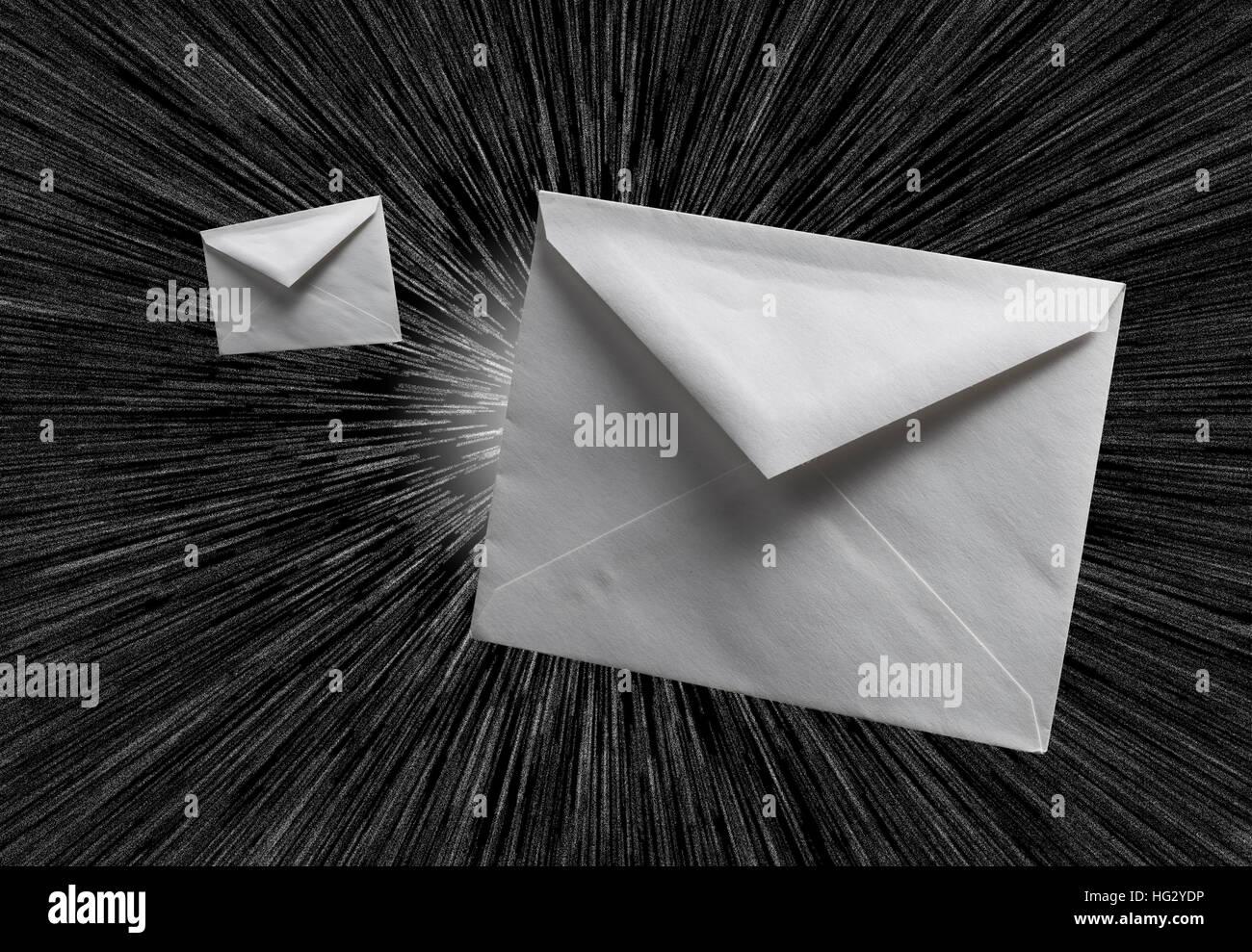 Messaggio di posta elettronica comunicazione Post Immagini Stock