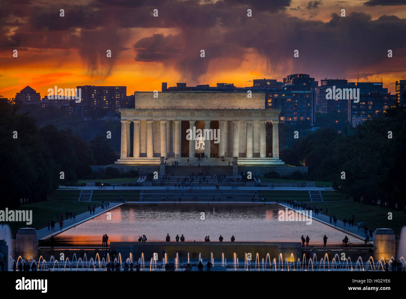 Il Lincoln Memorial, Washington DC, Stati Uniti d'America Immagini Stock