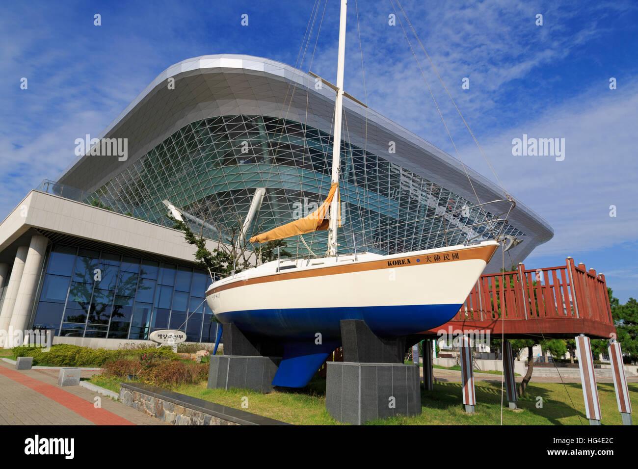 Museo Marittimo Nazionale, Busan, Corea del Sud, Asia Immagini Stock