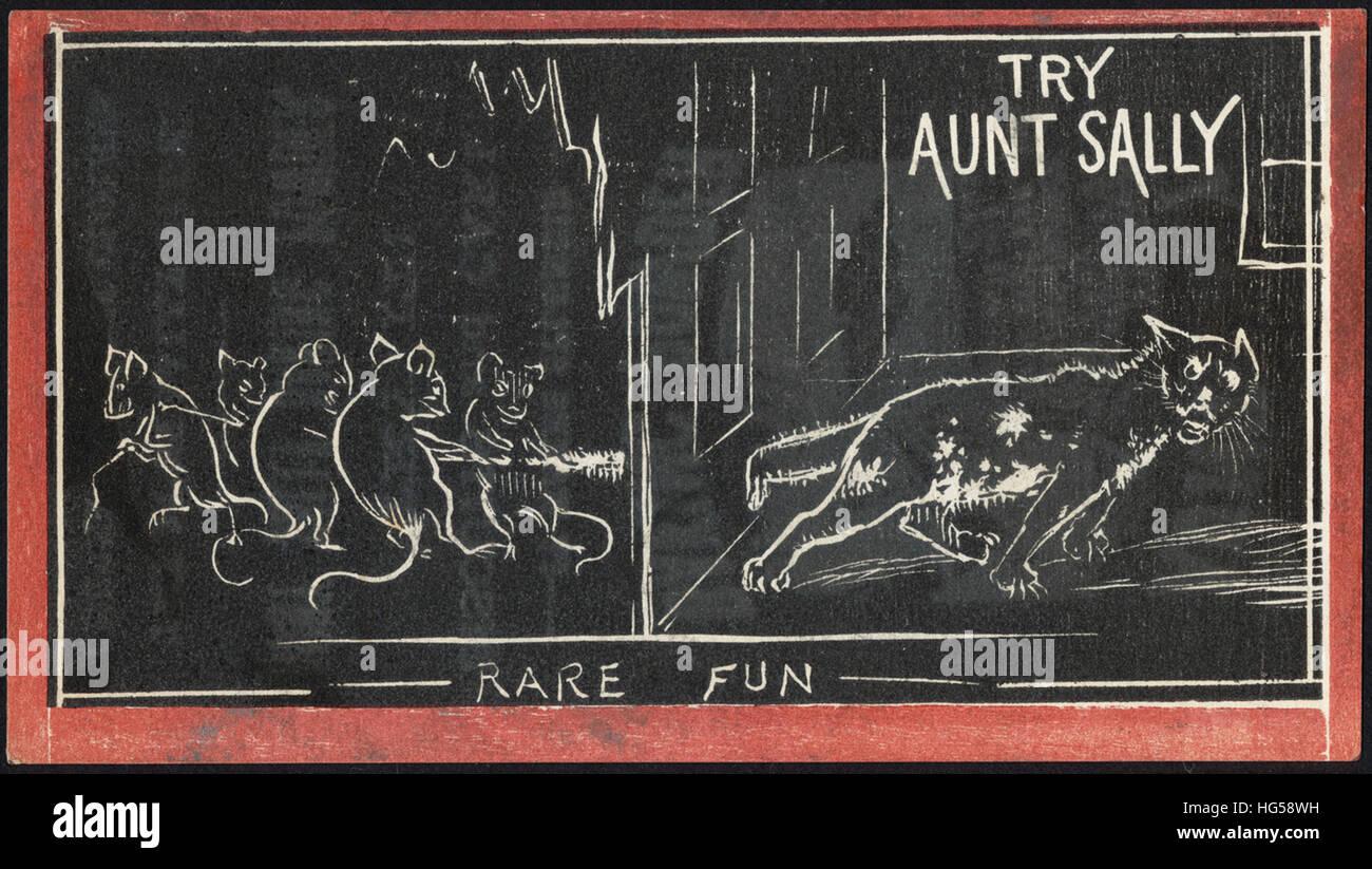 La cottura scheda commerciale - Provare a zia Sally - raro divertimento Immagini Stock