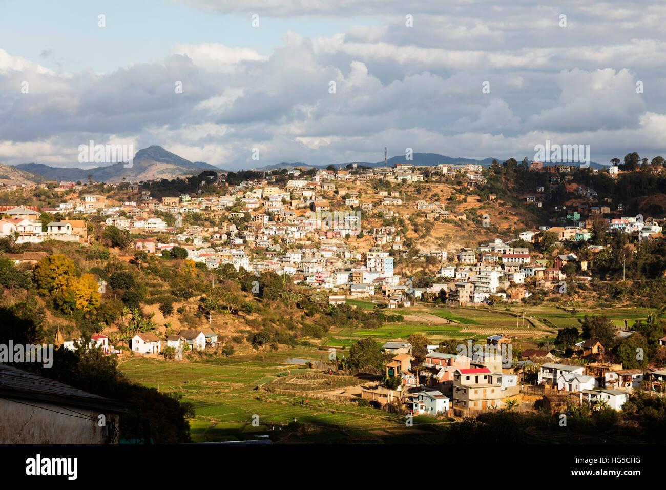 Fianarantsoa, zona centrale Foto Stock
