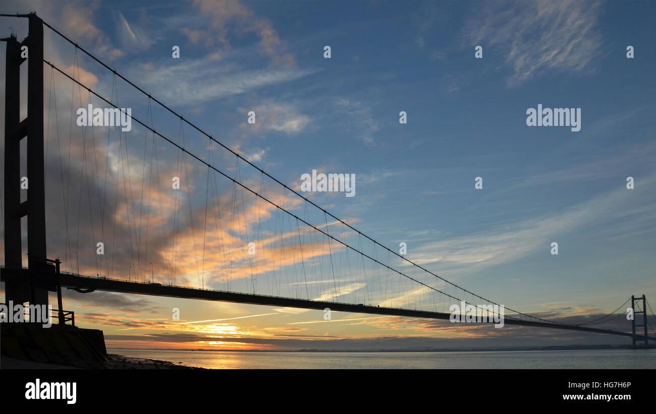 Humber Bridge, Hessle, East Yorkshire Immagini Stock