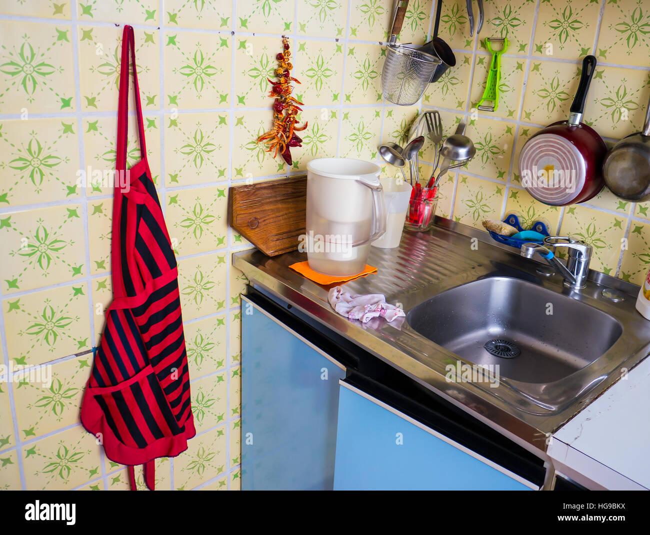 La cucina gli sfondi e gli oggetti. Immagini Stock