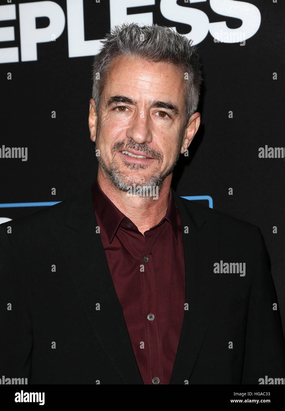 Los Angeles, CA - gennaio 05: Dermot Mulroney, a Premiere di strada aperta film' 'Sleepless', al Regal Immagini Stock