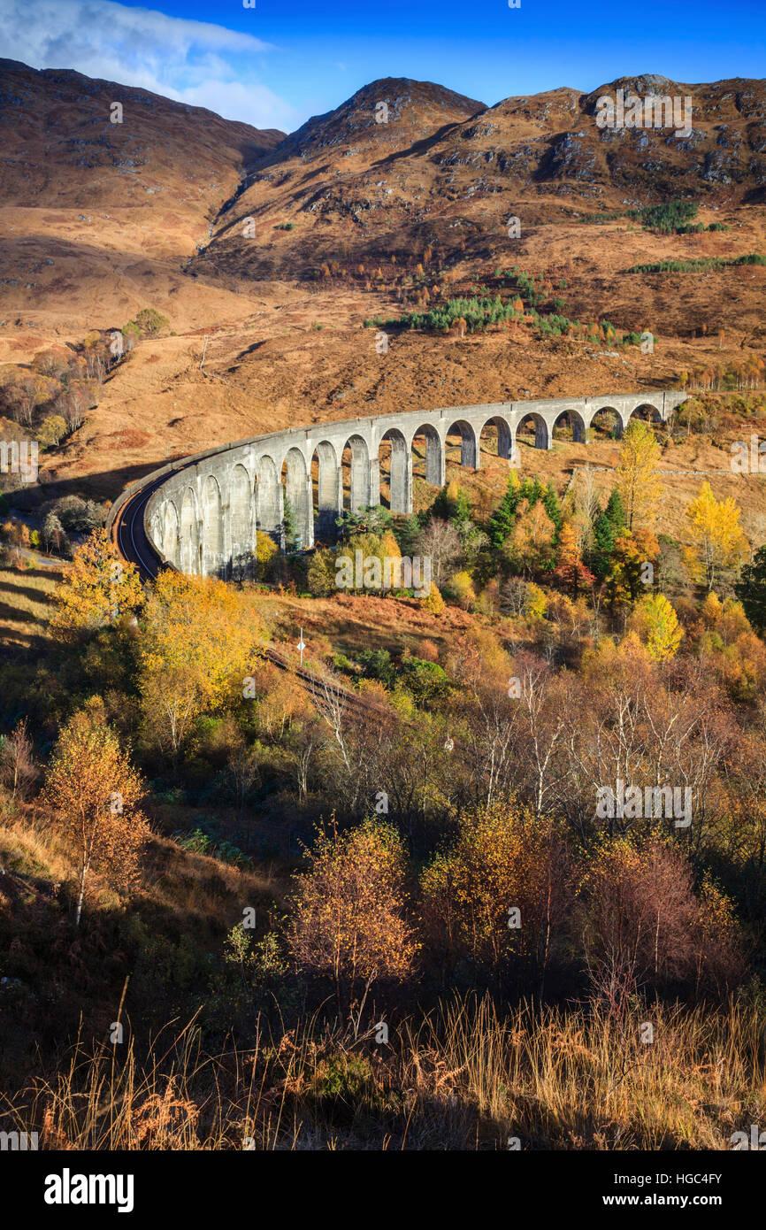 Viadotto Glenfinnan nelle Highlands Scozzesi. Immagini Stock