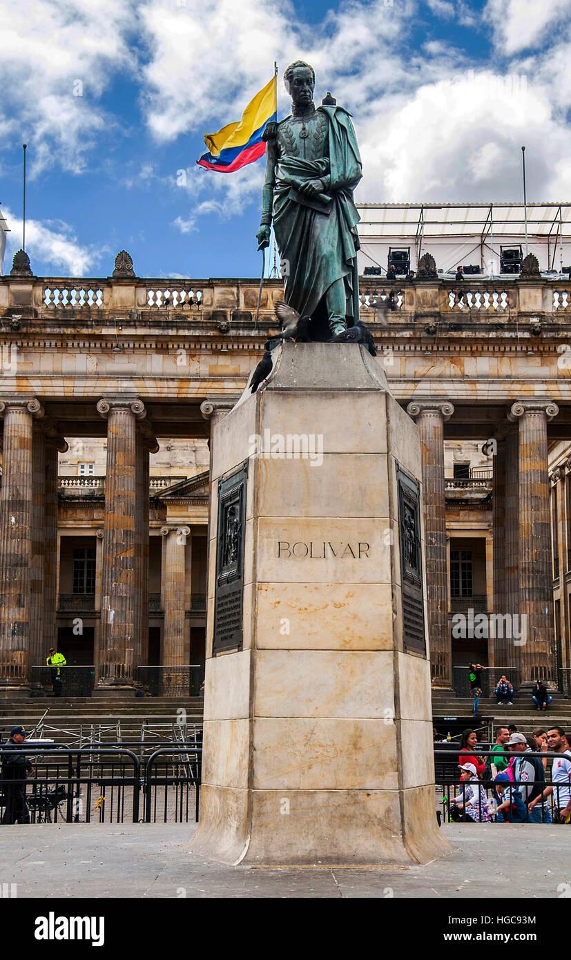 Simon Bolivar Monumento a Bogotà, Colombia Immagini Stock