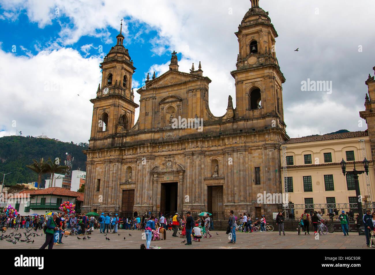 Simon Bolivar Square a Bogotá Colombia Immagini Stock