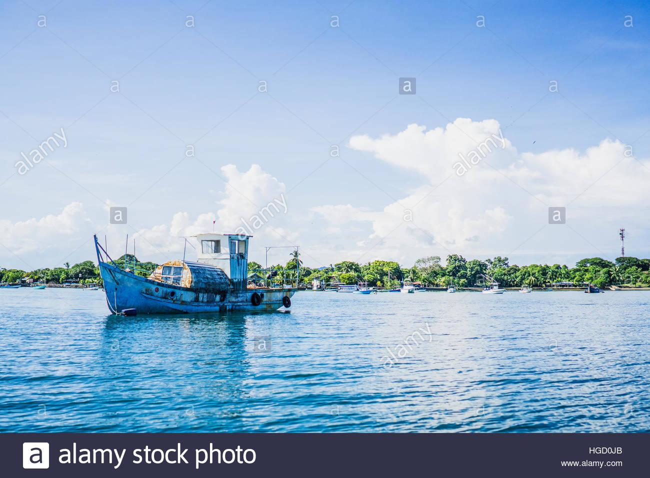 Puerto Jimenez Harbour, osa peninsula, Costa Rica, America centrale 2015 Immagini Stock