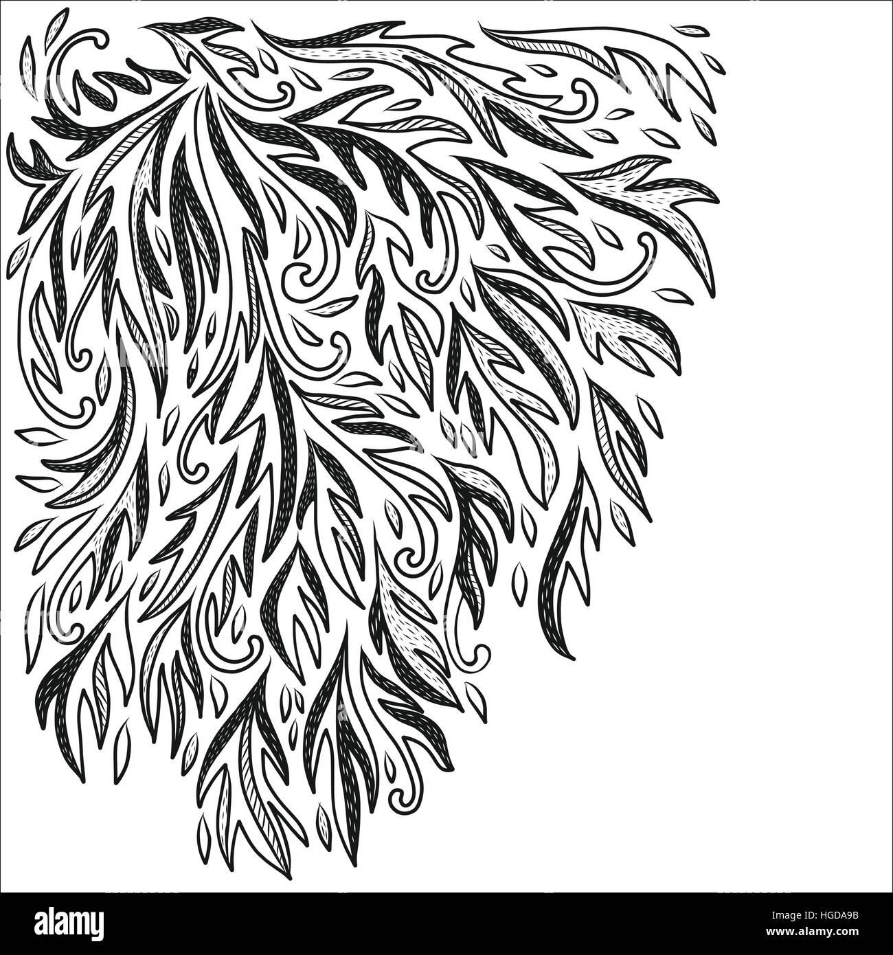 Fioriscono classica doodle immagine sfondo decorativo Immagini Stock