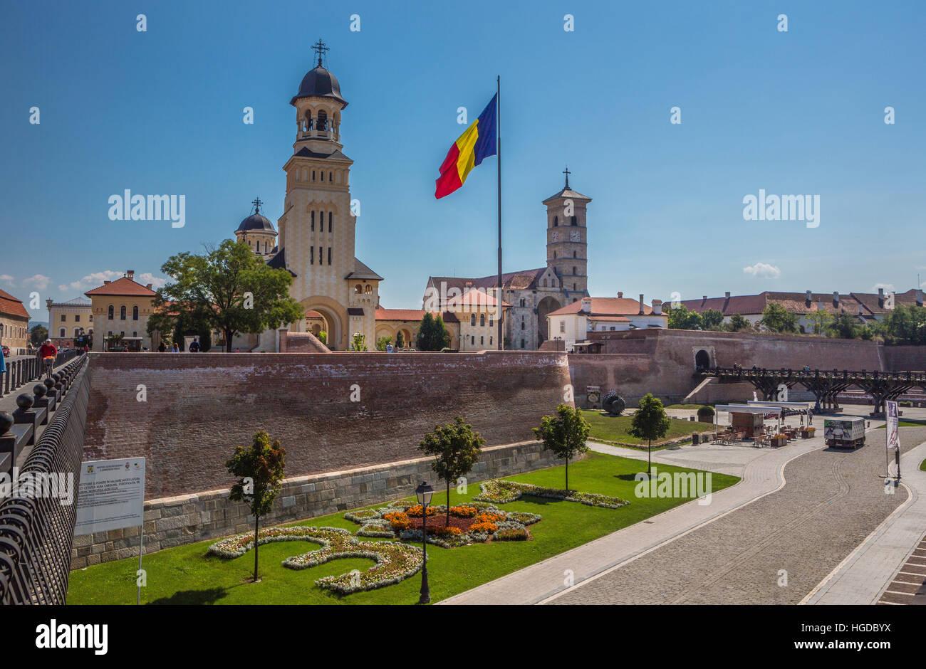 La Romania, Alba Julia, città di Alba Julia Cittadella, Reintregirii Neamului cattedrale Immagini Stock