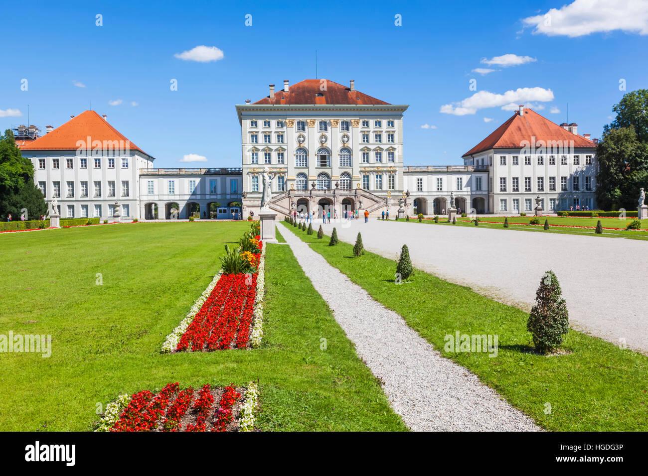 In Germania, in Baviera, Monaco di Baviera, il palazzo di Nymphenburg Immagini Stock