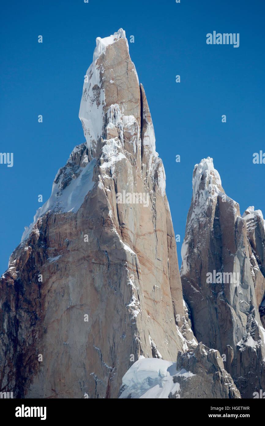 Cerro Torre, El Chalten, Patagonia, Argentina, Sud America Immagini Stock