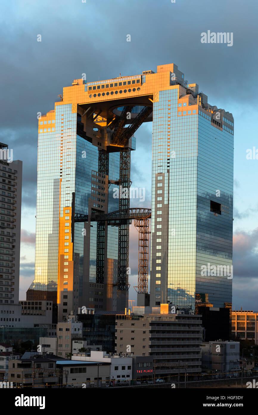 Umeda Sky Building, Osaka, Giappone Immagini Stock