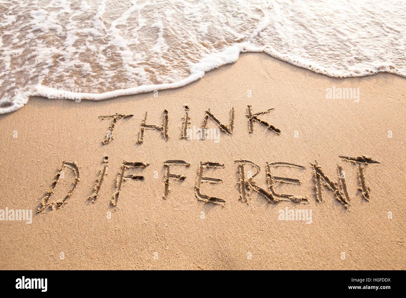 Pensare in modo diverso concetto Immagini Stock