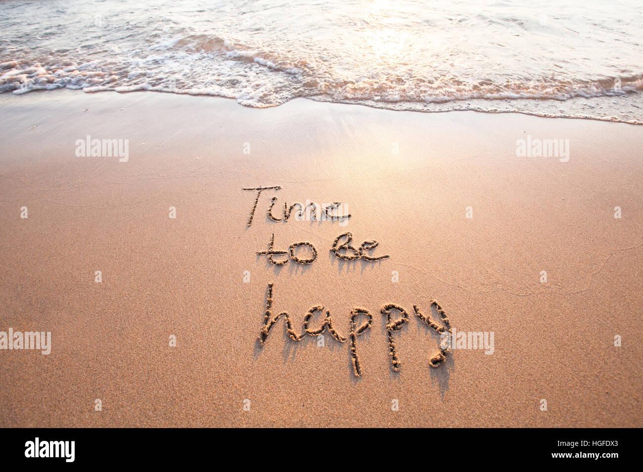 Tempo per essere felici, il concetto di felicità Immagini Stock