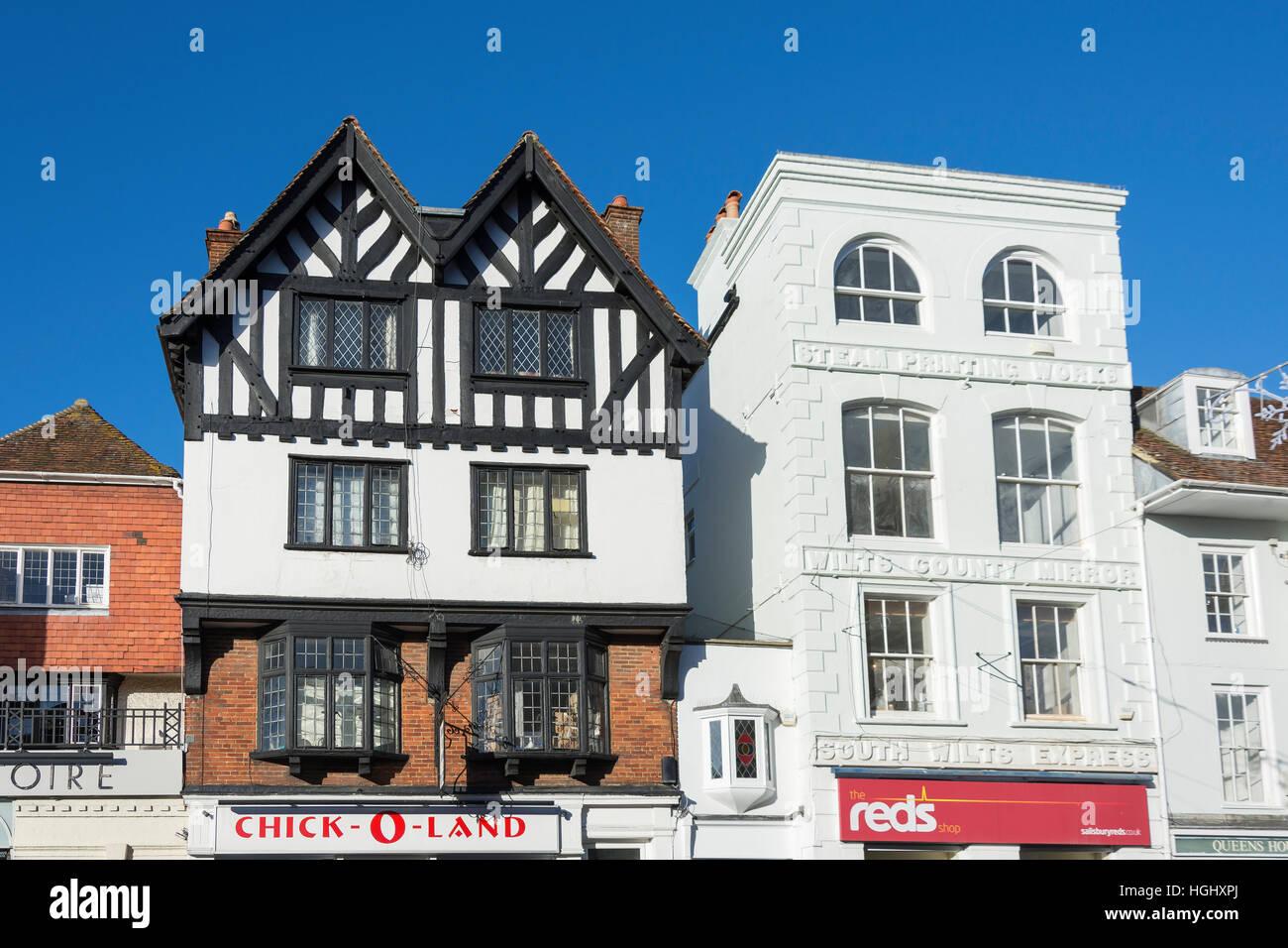 Periodo architettura, nuova Canal, Salisbury, Wiltshire, Inghilterra, Regno Unito Immagini Stock