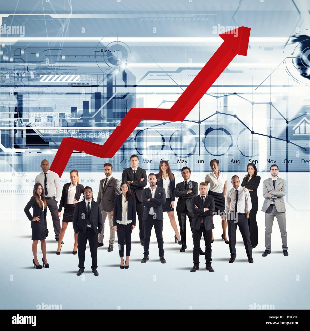 Gli imprenditori di successo della società Immagini Stock