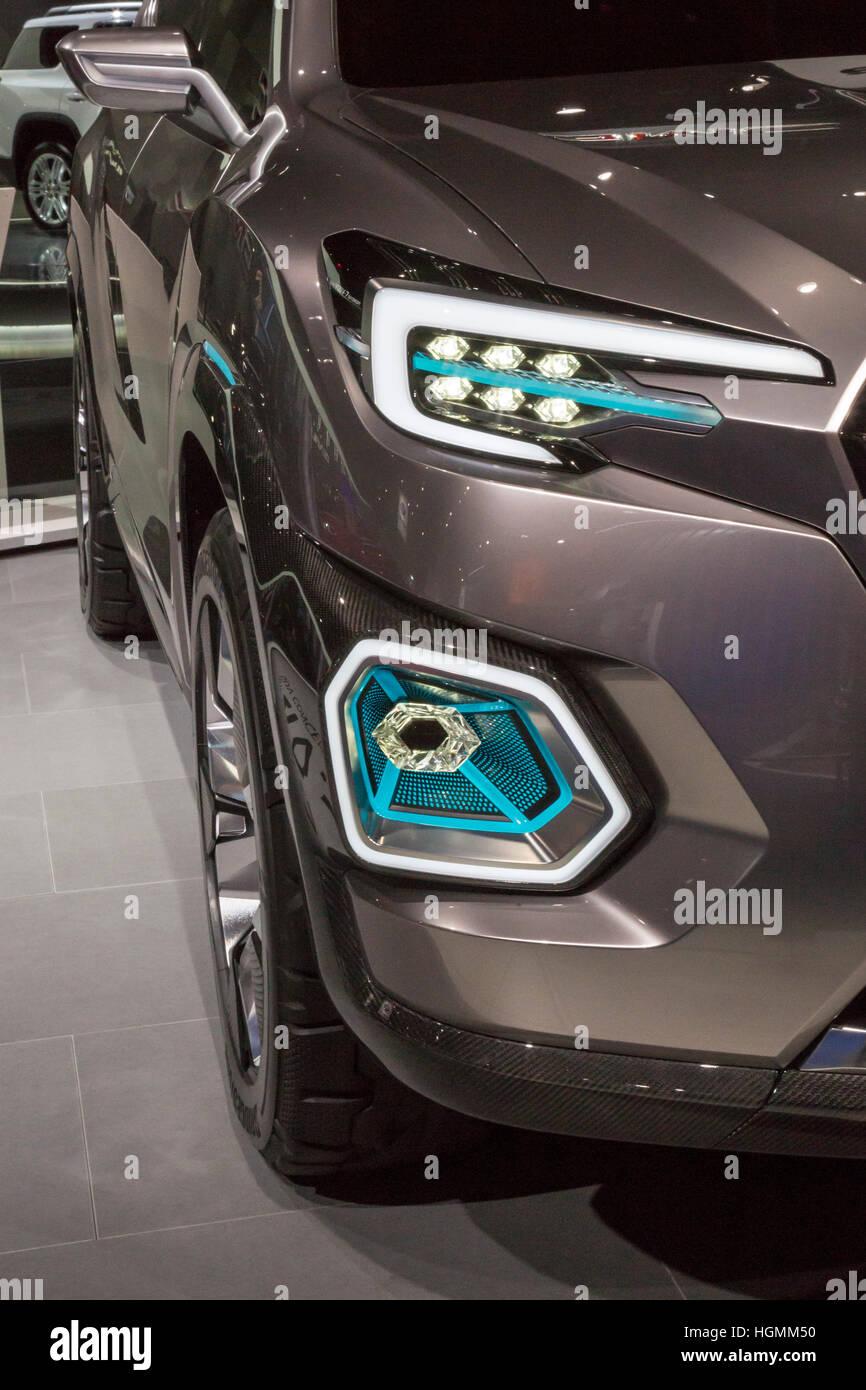 Detroit, Michigan STATI UNITI D'America - 10 Gennaio 2017 - La Subaru Viziv-7 Concept SUV sul display al North Immagini Stock