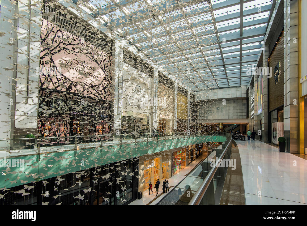Centro commerciale di Dubai, Dubai, Emirati Arabi Uniti Immagini Stock