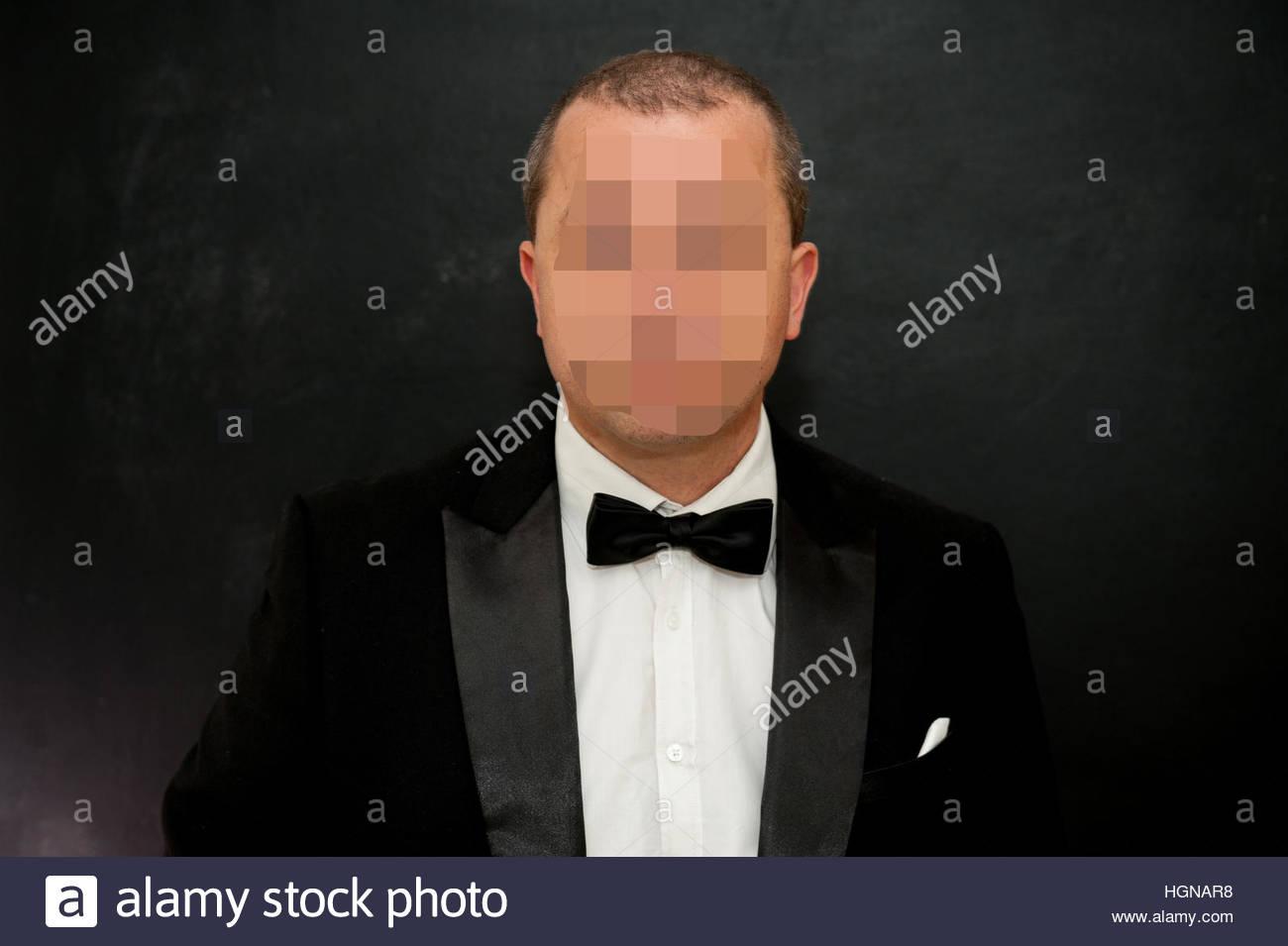 Uomo pixellated giacca e di con cravatta prua di faccia indossare 7rqBw7Z