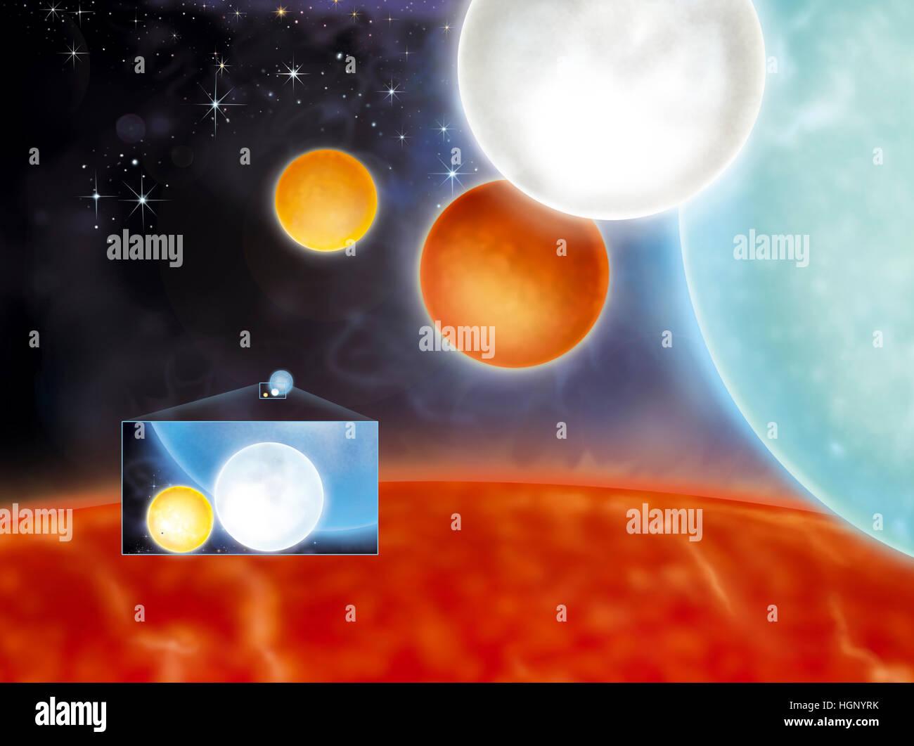 STAR, illustrazione Immagini Stock