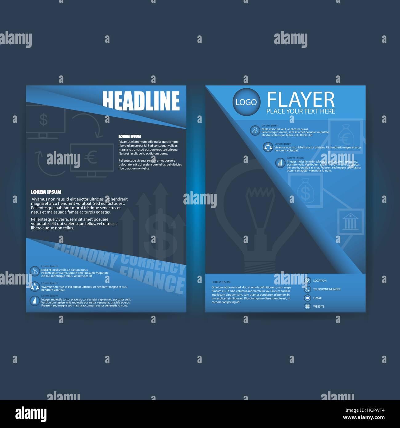Triangolo astratto Flyer Design Template Immagini Stock