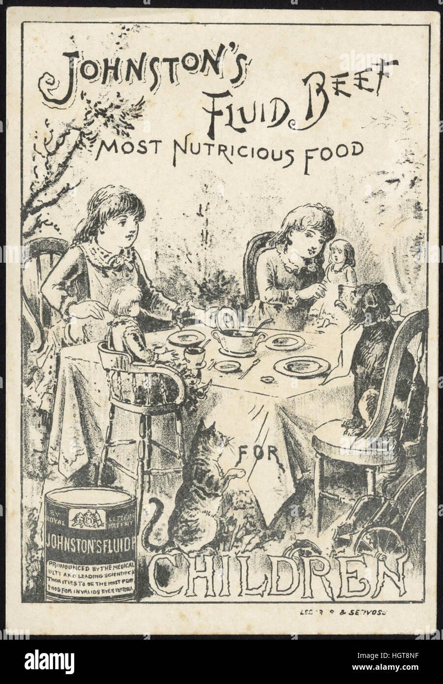Johnston fluido della carne di manzo, più sostanziosa e alimenti per bambini [Anteriore] - Il commercio di Immagini Stock