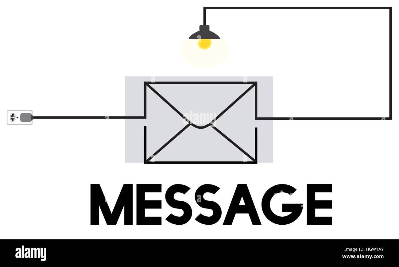 Messaggio di posta elettronica in arrivo il concetto di comunicazione Foto Stock